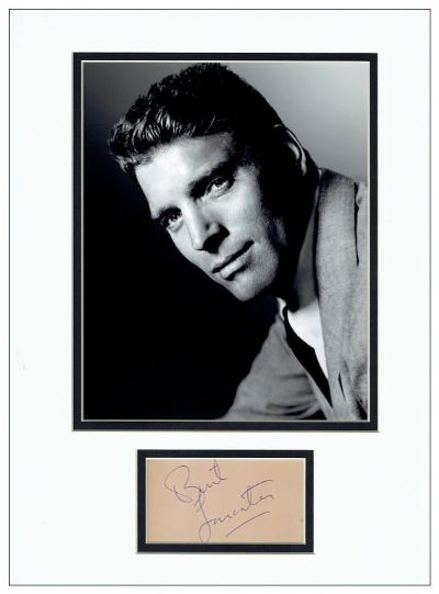 Burt Lancaster Autograph Signed Display